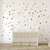 54 pcs Removable Vinyl Sparkling Star Wall Decals DIY Glitter Stars Wall Stickers Murals Star Sticker for Home Walls Kids Room Bedroom Living Room Bathroom Boys Girls Decor 2.5