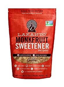 Lakanto Monkfruit 1:1 Sugar Substitute | 28 oz Non GMO (Golden, 800 g)