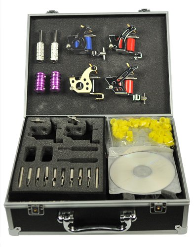 Fancier Studio (S-T02) 4 Gun Tattoo Machine Gun Kit with Case