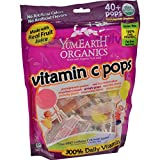 Yummy Earth Organic Vitamin C Lollipops- Over 40 Pops (Pack of 4)