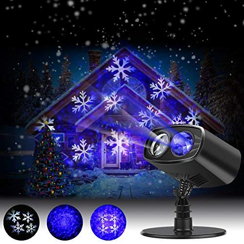 Luces de Proyector Navidad LED Nieve, Luz de Proyección Paisaje ...