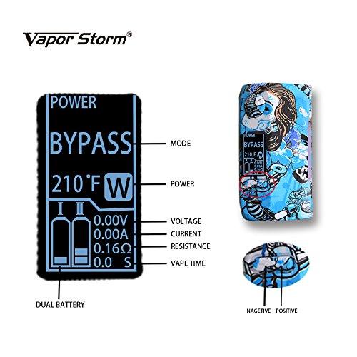 Cigarrillo Electrónico, VAPOR STORM Puma 200W Box Mod, Función de Relleno a Tope Atomizer 0.3ohm, 2ml, Función de Control de Salida de Aire, OLED 2200mAh ...