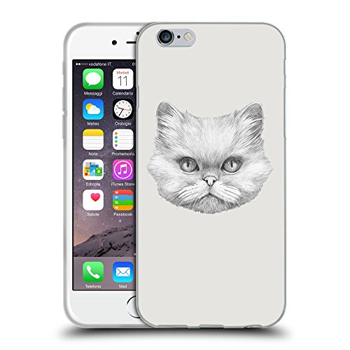 GoGoMobile Coque de Protection TPU Silicone Case pour // Q05330631 chat persan Platine // Apple iPhone 7