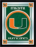 Holland Bar Stool Company NCAA Miami Hurricanes Logo Mirror, 17 X 22-Inch