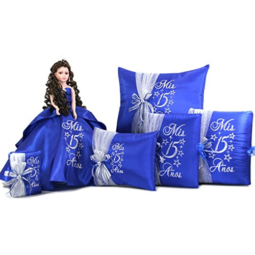 Quinceanera Sweet 15 Party Favor Doll Set Q1002 (Basic set with Spanish bible) by Quinceanera