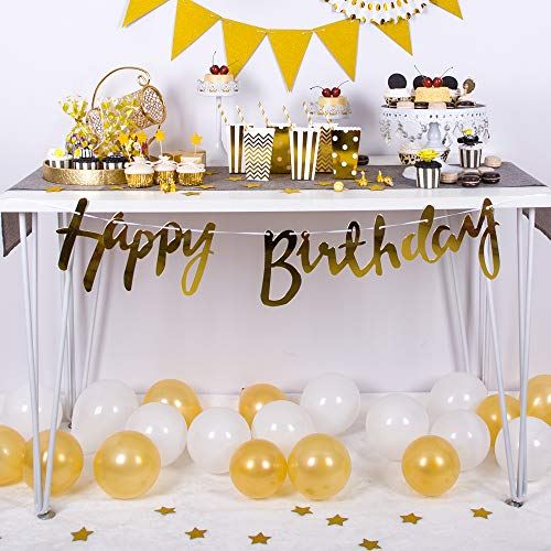 Bridal//Baby Shower Great for Wedding Tim/&Lin 5 inch White and Gold Premium Latex Balloons or Any Parties and Events Birthday Pack of 200 Party Decoration Supplies Balloons Water Fights