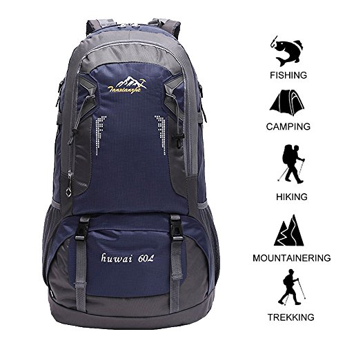 Gohyo 60L Hiking Backpack Lightweight for Camping Backpacking Travel with  Free Rain Cover da259a828ab47