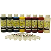 InkOwl® - 8x120ml Bulk Compatible Pigment Ink Kit for EPSON Stylus Photo R1900, R2000 - Made in the USA