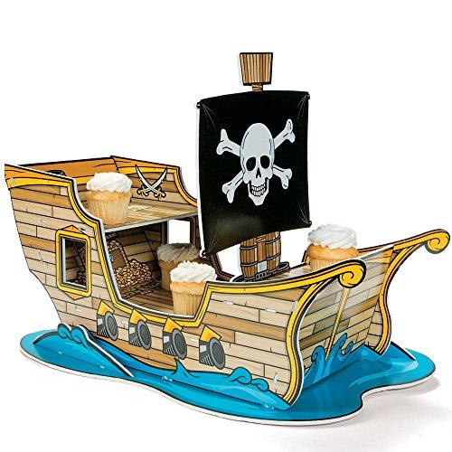 Fun Express Pirate Ship Cupcake Holder - Pirate Cupcake