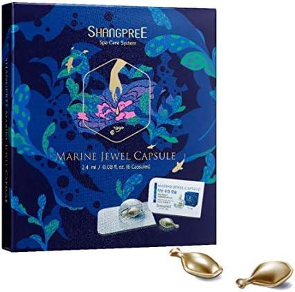 [SHANGPREE] MARINE JEWEL CAPSULE_Anti-Aging Face Oil + Ampoule (6 Capsules)