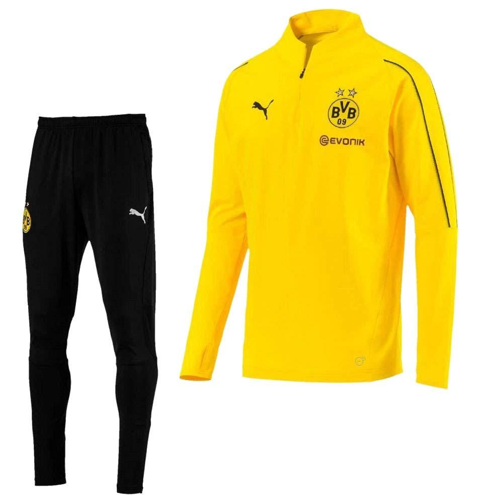 6b4255af754fc Amazon.com : PUMA Borussia Dortmund 1/4 Zip Tracksuit 2018/2019 ...