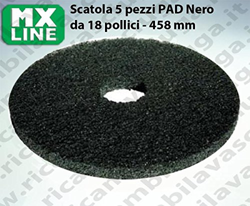 PAD MAXICLEAN 5 PEZZI color Nero da 18 pollici - 458 mm | MX LINE Synclean