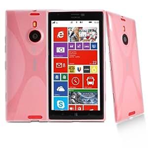 Exact Jump Series X Design SoftGel Flexible TPU Case Cover for Nokia Lumia 1520 Clear