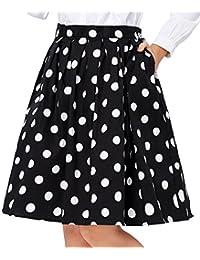 GRACE KARIN Women Pleated Vintage Skirts Floral Print...
