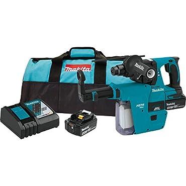 Makita XRH011TX 18V LXT 1'' Rotary Hammer Kit w / HEPA Vacuum Attachment