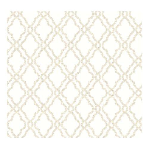 Waverly Trellis - York Wallcoverings Waverly Classics Hampton Trellis Removable Wallpaper, Cream/Tan