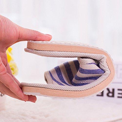Chaussons Bout Sandale à 1 antidérapant Coton Femme women 5 coucher Homme Maison 5 for Chambre 8 l'été ouvert Nacola 4 Pantoufle pour us7 xfCq4EYnwW