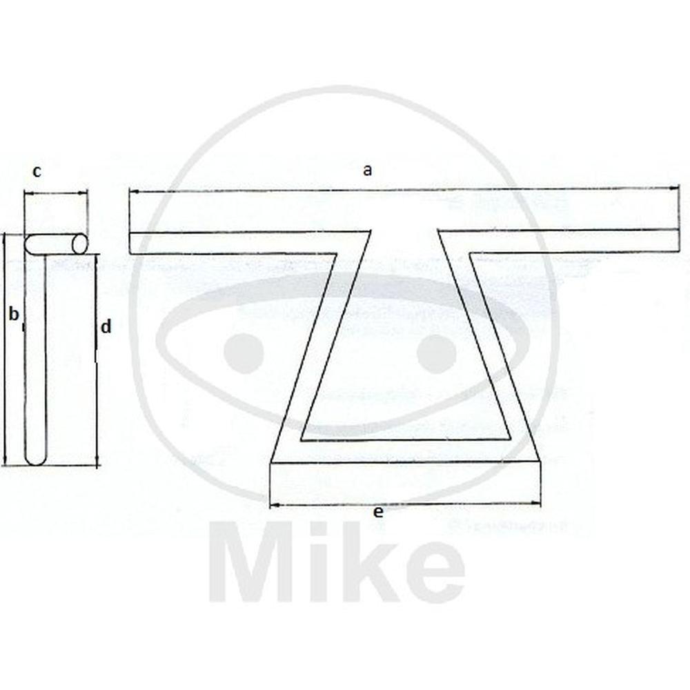 """Fehling /""""Z/""""-Lenker Chopper//Cruiser 25,4mm 1Zoll Stahl//Chrom 7766 4043981078503"""