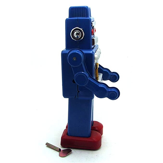 Amazon.com: Ikevan_ Robot Toy Tinplate Nostalgic Clockwork Chain Toy Photography Prop Walking Robot MS360: Toys & Games