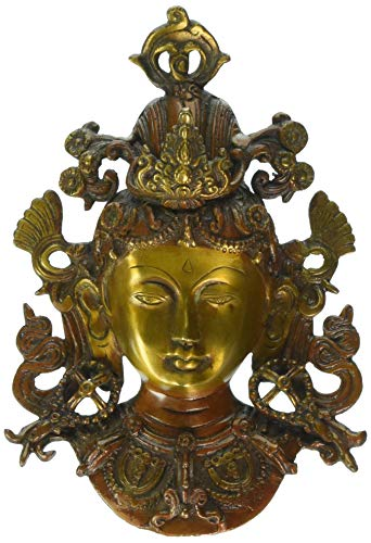 MP Crafts Brass Tara Devi Head Face Wall Hanging for Blessing, Happiness, Health, Wealth at Home & Office, Showpiece, Home Decor, Festival, and Gift