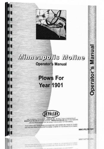Minneapolis Moline Horse Drawn Plow Operators Manual ()