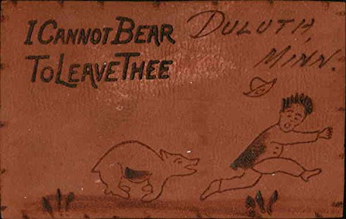 I Cannot Bear to Leave Thee Duluth, Minnesota Original Vintage Postcard