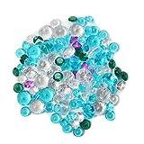 Hosley Decorative Vase Filler Assorted Diamond Gems. large Bag. 450 gr (15.87 oz) in a Mesh Bag. Use instead of Clear Marbles, Pebbles. For Vase Filler, Table Scatter, Aquarium Decor. Bulk Buy