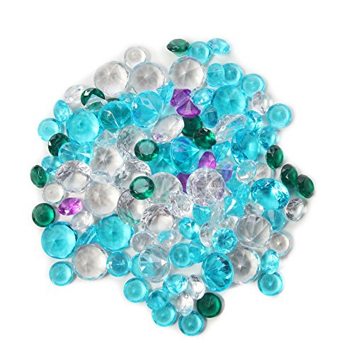 Hosley Decorative Vase Filler Assorted Diamond Gems. large Bag. 450 gr (15.87 oz) in a Mesh Bag. Use instead of Clear Marbles, Pebbles. For Vase Filler, Table Scatter, Aquarium Decor. Bulk Buy