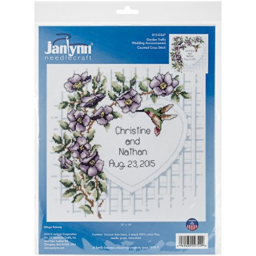 "Garden Trellis Counted Cross Stitch Kit-10""X10"" 14 Count"