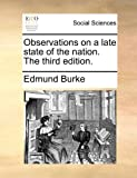 Observations on a Late State of the Nation The, Edmund Burke, 1170882285