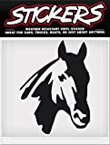 STICKERS Black HORSE HEAD Horse Vinyl Window