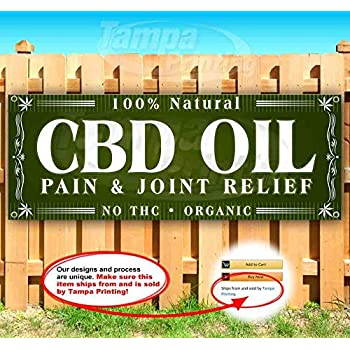 New CBD Joint Inflammation Relief Extra Large 13 oz Heavy Duty Vinyl Banner Sign with Metal Grommets Advertising Flag, Many Sizes Available Store