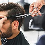 Hair Cutting Scissors Professional Home Haircutting Barber/Salon Thinning Shears Kit with Comb and Case for Men/Women