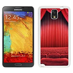 NEW Unique Custom Designed Samsung Galaxy Note 3 N900A N900V N900P N900T Phone Case With Theatre Seats Red Curtain_White Phone Case