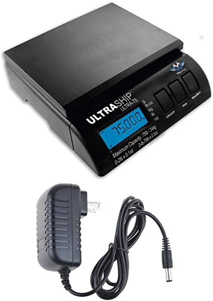 for Shipping Bakery My Weigh Ultraship 35 LB Electronic Digital Shipping Scales Black Pro Savings 10-Pack Industrial Pizzeria Restaurant with Ultraship Power Supplies or Veterinary Use