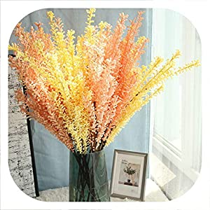Memoirs- 10Pcs Artificial Flowers for Wedding Plant Bracken Grass Wedding Home Landscaping Office Potted Party Garden Festival Decor 75