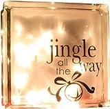 glass block decals - VINYL DECAL Jingle all the Way Glass Block Vinyl