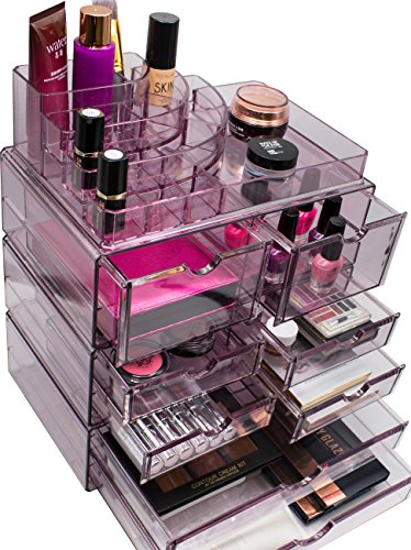 Sorbus Acrylic Cosmetics Makeup and Jewelry Storage Case X-L