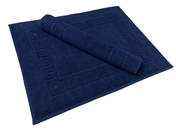 Premium Cotton Bath & Floor Mat (53 cm X 72 cm) Navy Blue