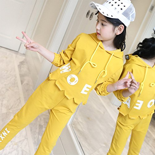M&A Girls Fashion Tracksuit Clothing Set Hoodie + Pants Spring Autumn by M&A (Image #5)