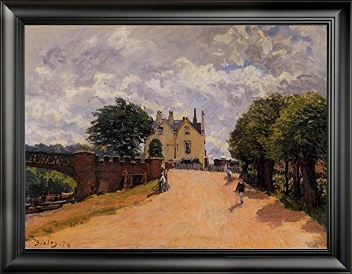 inn-at-east-molesey-with-hampton-court-bridge-by-alfred-sisley-21-x-28-framed-premium-canvas-print