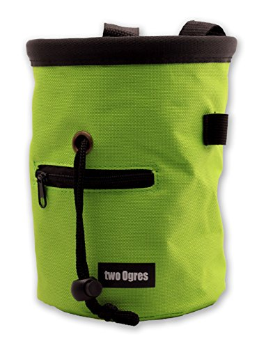 two Ogres Essential-Z Chalk Bag with Belt and Zippered Pocket for Climbing
