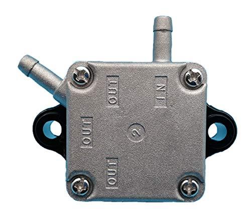 Tuzliufi Replace Fuel Pump Yamaha Mercury Parsun HDX Makara 4-Stroke 2 Cylinders 9.9HP 13.5HP 15HP F15 F13.5 F9.9 Gasoline Outboard Motor 66M-24410-10-00 835389T1 835389T02 835389A2 F15-07140000 Z105 ()