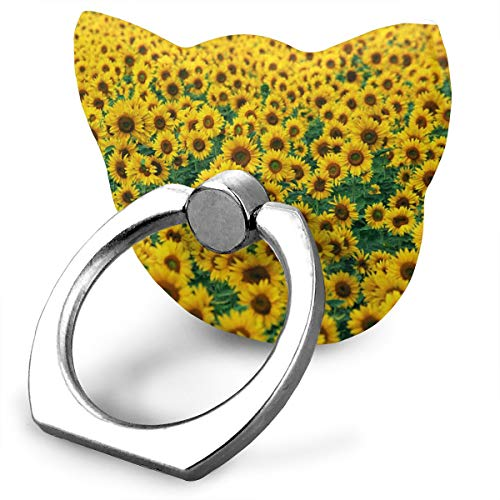 Karen Felix Cat Style Cell Phone Ring Stand Holder Wild Sunflowers 360¡ãRotation Or 180¡ã Folding Plastic Mobile Phone Ring Stent