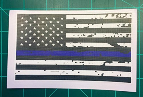 Blue Lives Matter American Flag Decal Vinyl Sticker|Cars Trucks Walls Laptop|Printed Decal|5 X 3 (Oyster Costume)