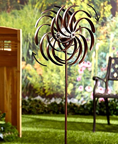 Double Spiral Solar Garden Spinner product image