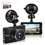 SharkMall Dash Cam with 32GB Card, 1080P Dash Camera for Cars Full HD 170° Wide Angle Car Dashboard Cameras 3.0' LCD Metal Driving Recorder with G-Sensor, Night Vision, WDR, Loop Recording
