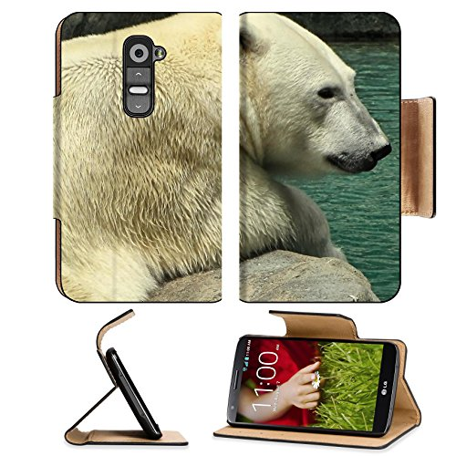 Animals Polar Bears Mother and Son LG G2 Flip Case Stand Magnetic Cover Open Ports Customized Made to Order Support Ready Premium Deluxe Pu Leather MSD cover Professional Cases Accessories Graphic Background Covers Designed Model Folio Sleeve HD Template Designed Wallpaper Photo Jacket Wifi Protector Cellphone Wireless Cell phone