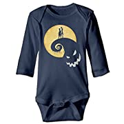 Kid Baby Nightmare Before Christmas Jack Sally Long-sleeve Romper Jumpsuit Navy