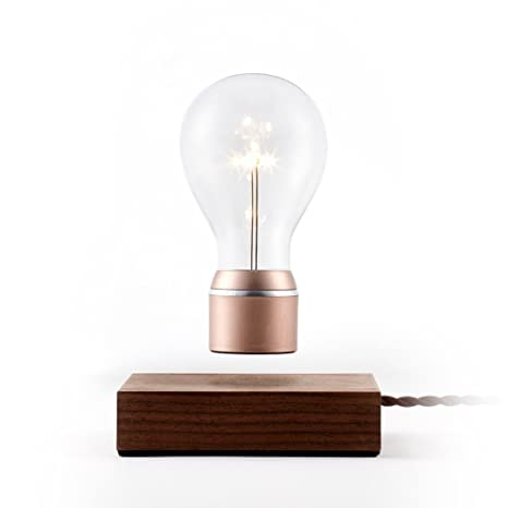 Flyte buckminister original authentic magic floating levitating led light bulb lamp walnut